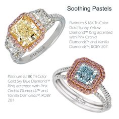 Sunny Yellow Diamonds™, Pink Orchid Diamonds™ and Sky Blue Diamonds™ top luxury looks in Bridal Fashion.