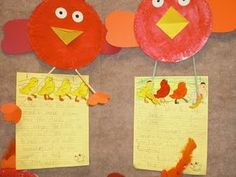 The Little Red Hen paper plate craft and story innovation. The kids had the hen making everything from pizza to chocolate chip cookies instead of bread! Funny! #Little Red Hen