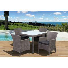International Home Miami Atlantic Liberty Deluxe 5 Piece Dining Set | Wayfair $929
