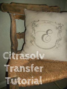Citrasolv Transfer Tutorial