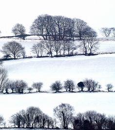 Snow on Welsh Landscape