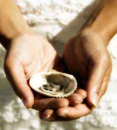 shell, beaches, wedding ideas, fashion idea, ring pictures