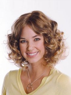 Mid-Length Curly Remy Human Hair Wig