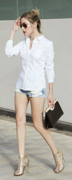 Everyday New Fashion: WHITE SHIRT LOOK by PersonalStyle