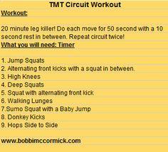 twenty minute leg workout