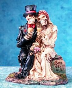 Another skeleton cake topper