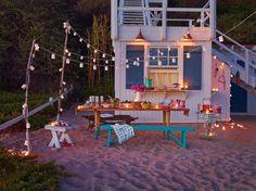 Set the mood for dinner with Poppytalk for Target's string lights.
