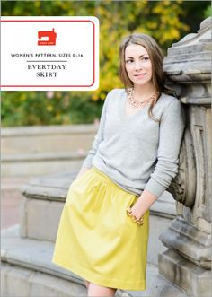 the new everyday skirt sewing pattern from liesl + co. Can't wait to make about a million of these!