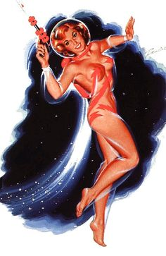 Vintage space babe