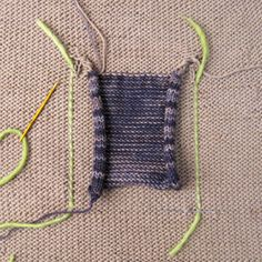 tips for sewing in pockets in knitted garments
