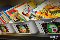Organize your class reading books great resource for reading