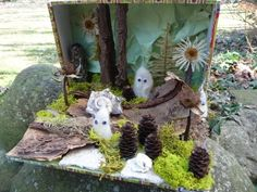 art club, artists, lion, dioramas for kids, nature, boxes, woodland creatures, earth day, winter scenes