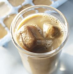 GENIUS! Like iced coffee in the summer? Try freezing some coffee in an ice cube tray. That way your coffee doesn't water down =)     You can also use them in a blended coffee drink with almond milk, coffee, cinnamon and vanilla protein powder. Want it to be mocha? Add a scoop of chocolate protein!