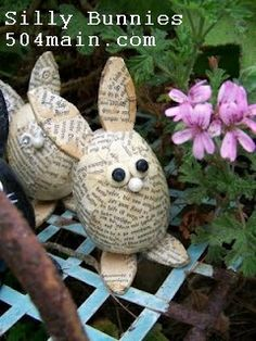 holiday, books, craft, easterspr celebr, book art, book bunni, book pages, egg, easter bunny