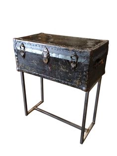 Custom Steamer Trunk Console Table. $385.00, via Etsy.