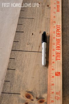 Make your own DIY growth chart without damaging your walls. Learn how @BrightNest Blog!