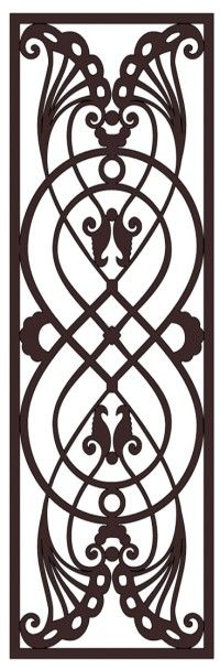 Faux Wrought Iron Pattern D1