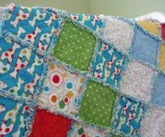 How to Make a Rag Baby Quilt #quilts #DIY #crafts