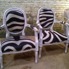 Zebra chairs from French Furniture Online
