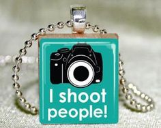 I Shoot People Scrabble Pendant With Necklace