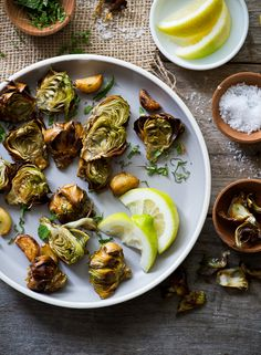Fried Minted Artichokes / White on Rice #foodography