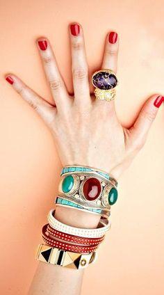 statement jewelery #jewelery #fashion #style #ring #bracelets