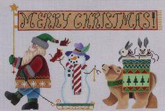 Brenda Stofft Designs Santa Parade 149 Hand Painted Needlepoint Canvas | eBay