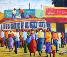 Peter Kwangware uses colour and passion to freeze moments of everyday life.  You can see more of Pete's work on Fine Art Portfolio