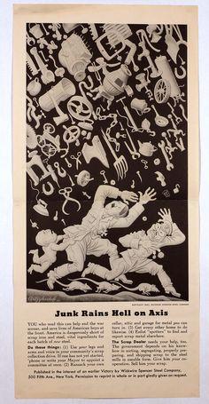 JUNK RAINS HELL ON AXIS (Artzybasheff) 1942 http://www.legion.org/documents/legion/posters/744.jpg