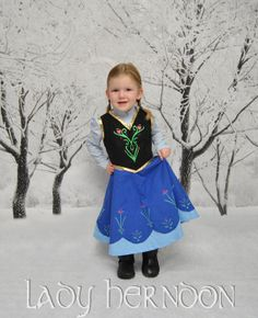 My Fairy Tale Anna Dress from Disney's Frozen  by LadyHerndon, $85.00