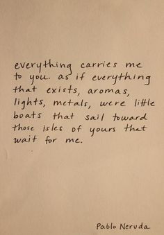 I love Neruda