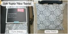 Cloth Napkin Pillow Tutorial: Make your own pillows for under $5.00!