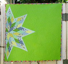 Scrappy Lone Star Quilt tutorial from Better Off Thread