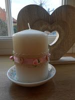 Decorate a Candle with Buttons