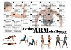 Looking to tone up your arms? Try this 30 day arm challenge- just in time for the new year. #tonearms #exercise #exercisechallenge