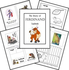 The Story of Ferdinand FREE Lapbook Notebook Printables and Kindergarten Kit love the math bull game! good for 1st grade too