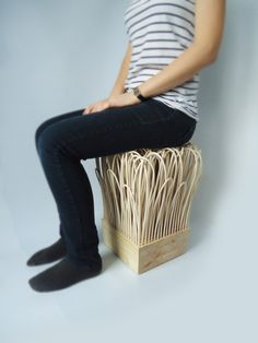 Rattatan Stool by Wiktoria Szawiel furniture 2 eco