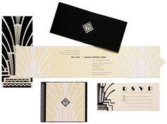 Vintage Art Deco Invitations deco invit, idea, art deco wedding, gala, weddings, gatsbi, wedding invitations, inspir, design