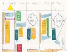 5 day work week, printable planner template by Ahhh Design