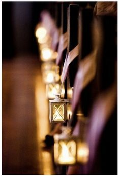 Lighting the Way - Lantern Wedding down the aisle