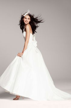 Nouvelle Amsale Strapless Bow Trumpet Gown (exclusively @Nordstrom) #wedding