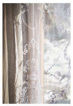 ♕ lace at the window