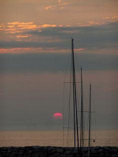 Leland Harbor (MI) sunset.     M.Wild