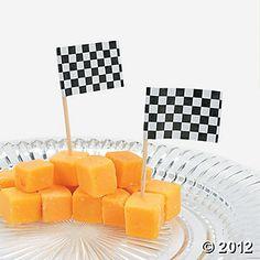 144 Race Car Flag Picks via. orientaltrading.com