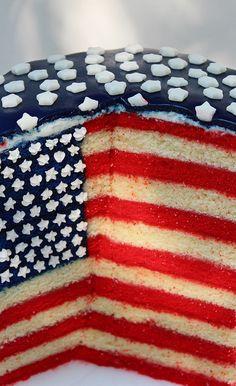 Stars and Stripes - American Flag Cake
