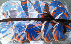 Boise State Football Cookies