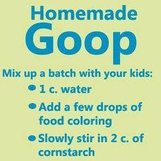 Homemade goop