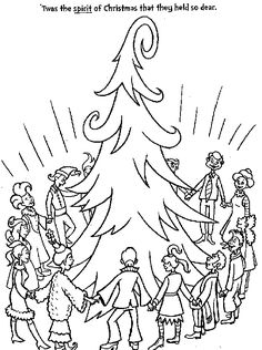 Whoville Coloring Pages The grinch coloring pages