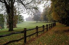 autumn, breathtaking, countryside, fence, field, leaves