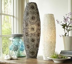 Kai Shell Ambient Cylinder Table Lamps #potterybarn